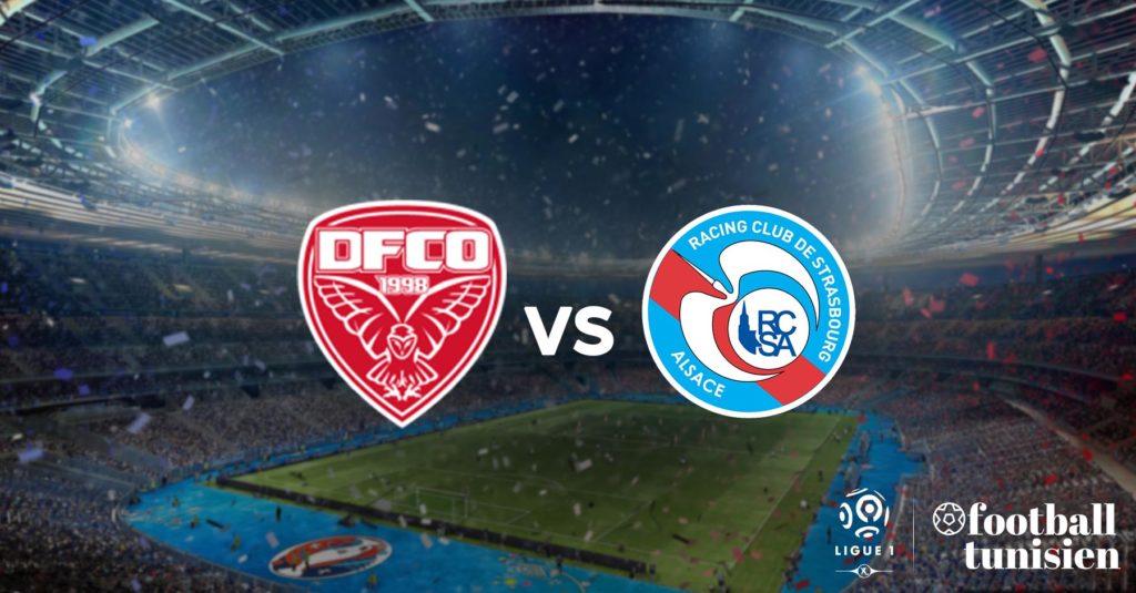 ligue 1  dijon fco - rc strasbourg alsace  1-1
